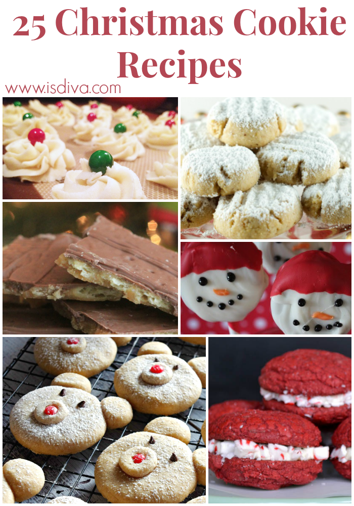 Looking for cookie recipes to take to a cookie swap or fill your holiday tins? Try some of these scrumptious recipes. They're sure to spread some holiday cheer! #christmas #cookies