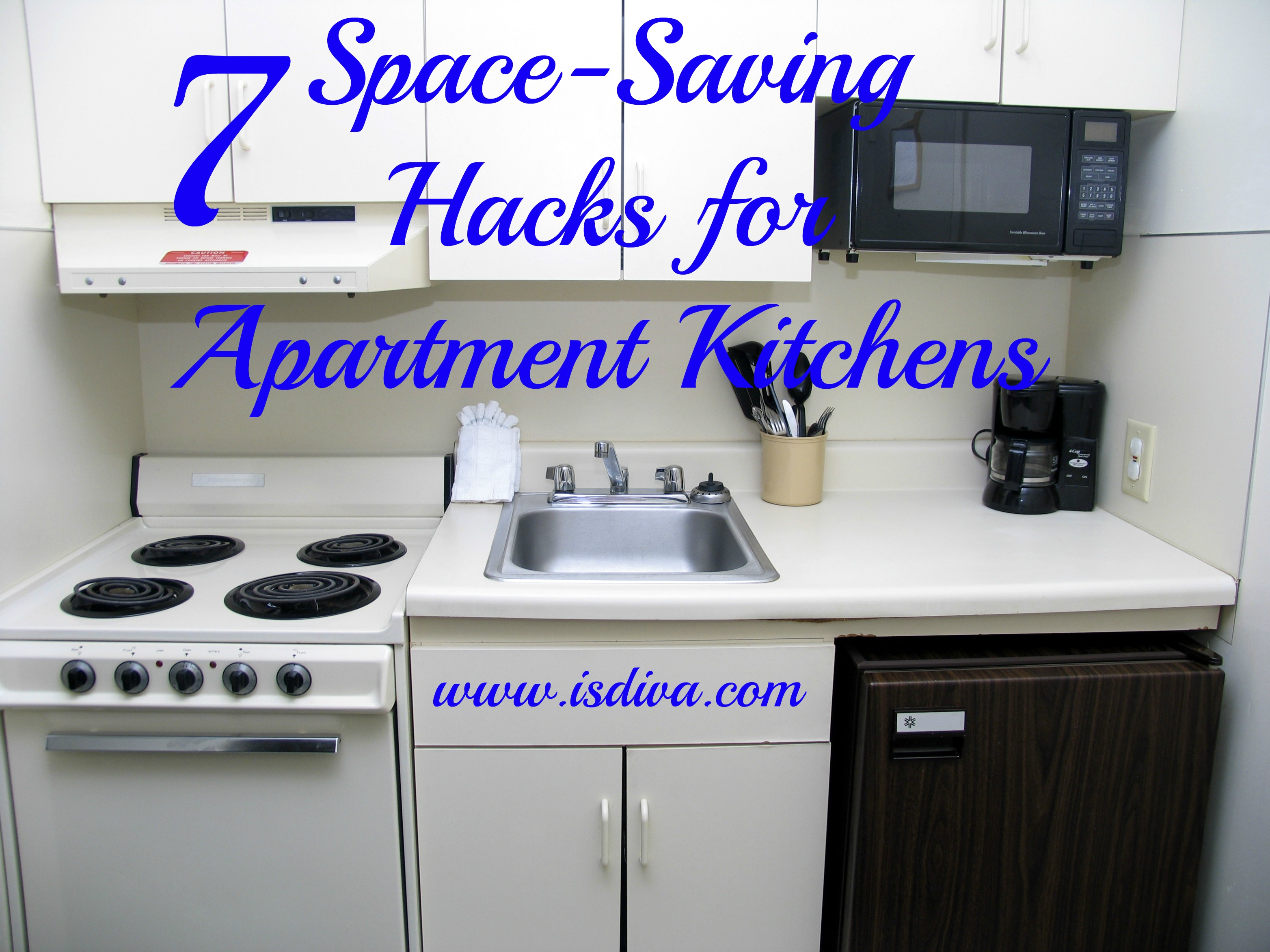 7 space saving hacks for apartment kitchens independent for Small kitchen hacks