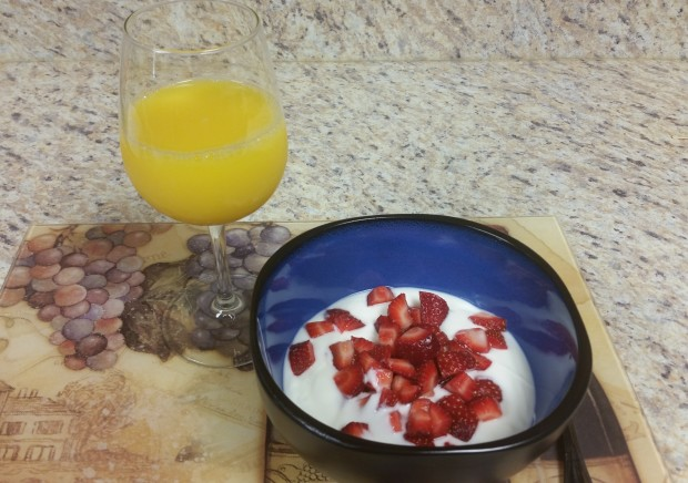 Yogurt and Fruit Strawberries