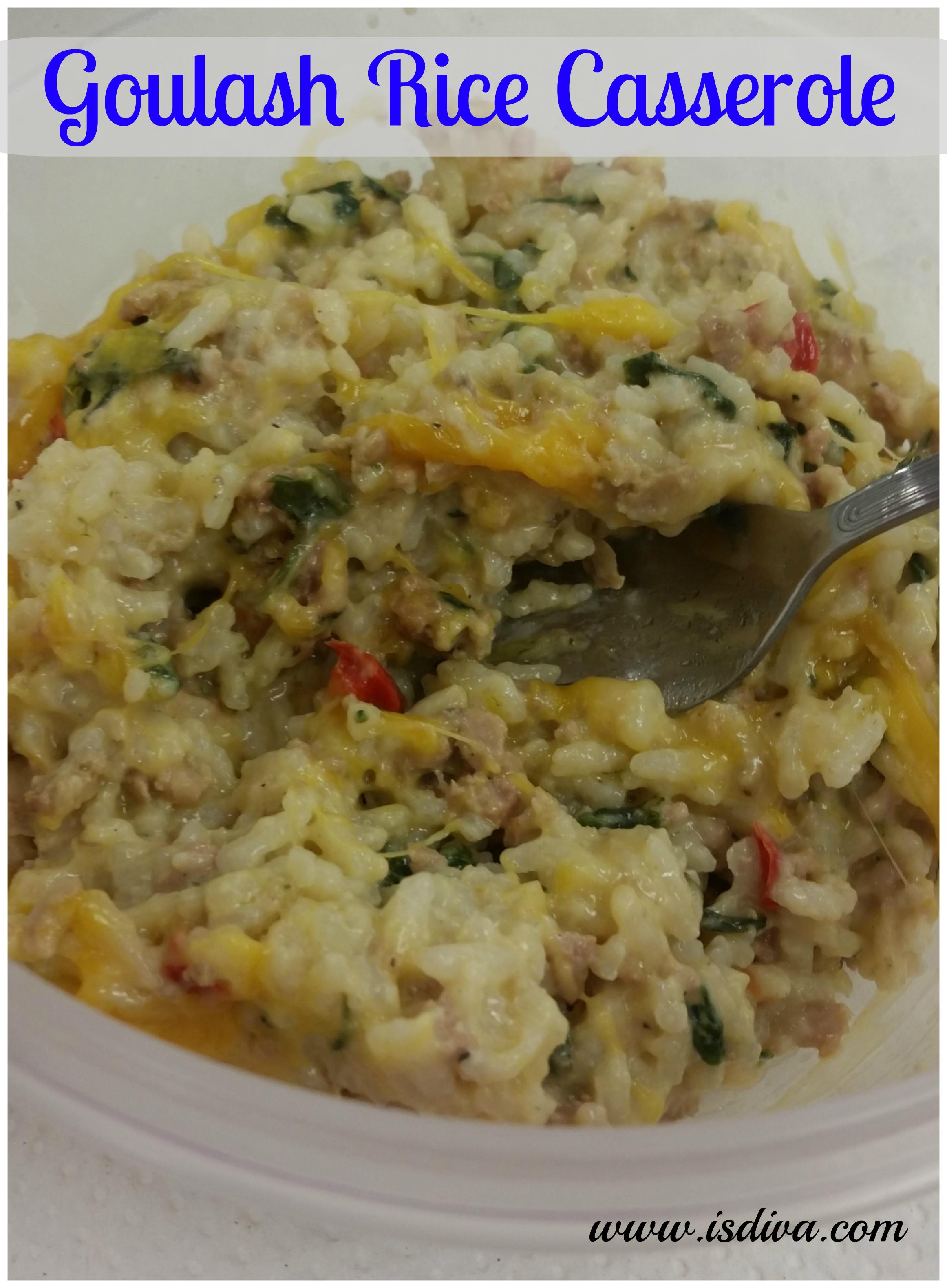 Goulash Rice Casserole
