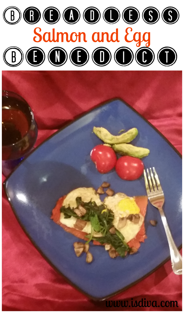 Breadless Salmon and Egg Benedict