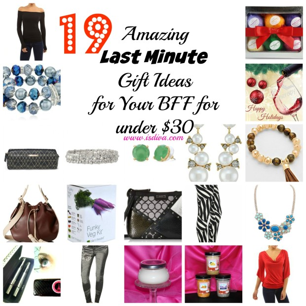 Do you need some last minute gift ideas for your best friend or any woman in your life? Check out these 19 great items from Sass N Frass, Stella Dot, and Amazon.