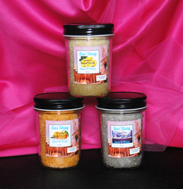 Sas'Shay sugar scrubs
