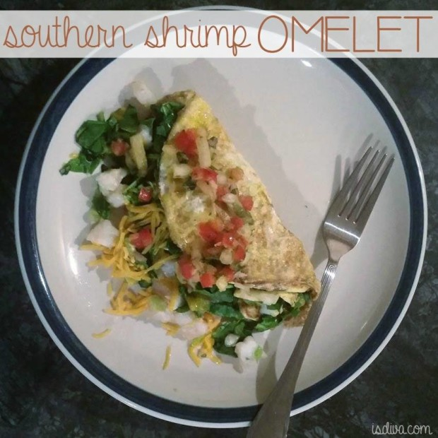 If you want a change of pace for breakfast, lunch, or dinner, try this southern version of an omelet by just adding in shrimp to this recipe.