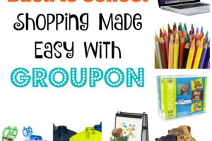 Back to School Shopping Made Easy with #Groupon. It's tough and expensive going store to store for back to school shopping. But it's easy with Groupon Goods. #ad