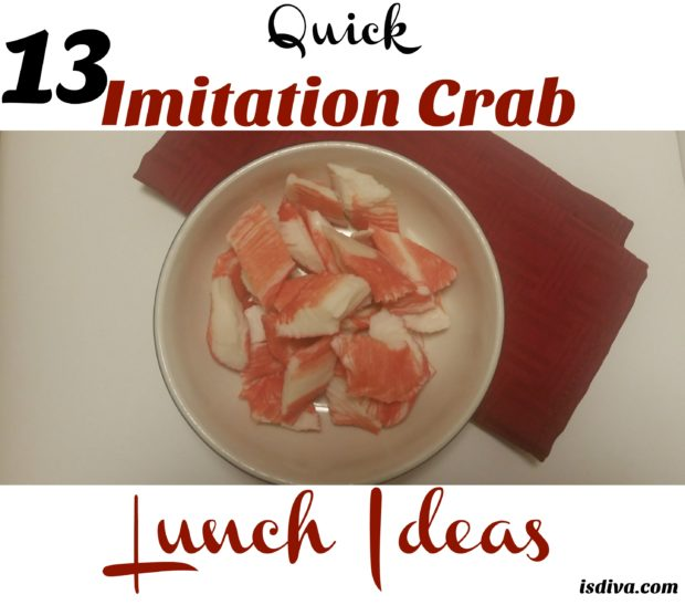 13 Quick Imitation Crab Lunch Ideas. Don't let your leftover crab meat go to waste. Check out these easy 13 crabmeat recipes from Pinterest.