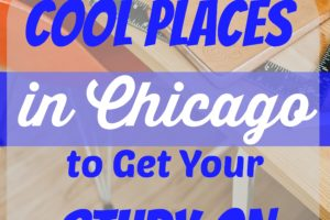 Cool Places in Chicago to Get Your Study On. Are you having trouble studying? I've included a few cool places you can go study. There are even a few study spots specifically in Chicago you should check out.