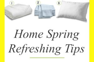 Home Spring Refreshing Tips + Giveaway #ad. Spring is right around the corner. Check out these easy spring cleaning and refreshing tips and enter the eLuxury bedding giveaway!